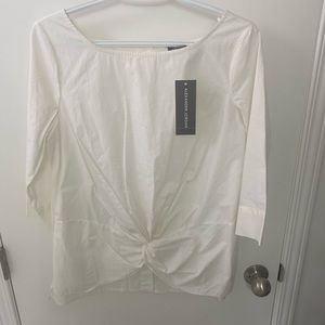 NWT Alexander Jordan 3/4 Length Sleeve Top